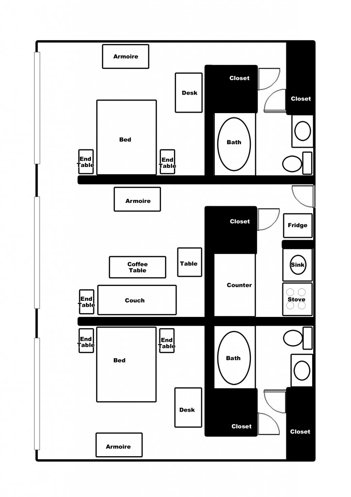 New Apartment Floorplan 2-bed