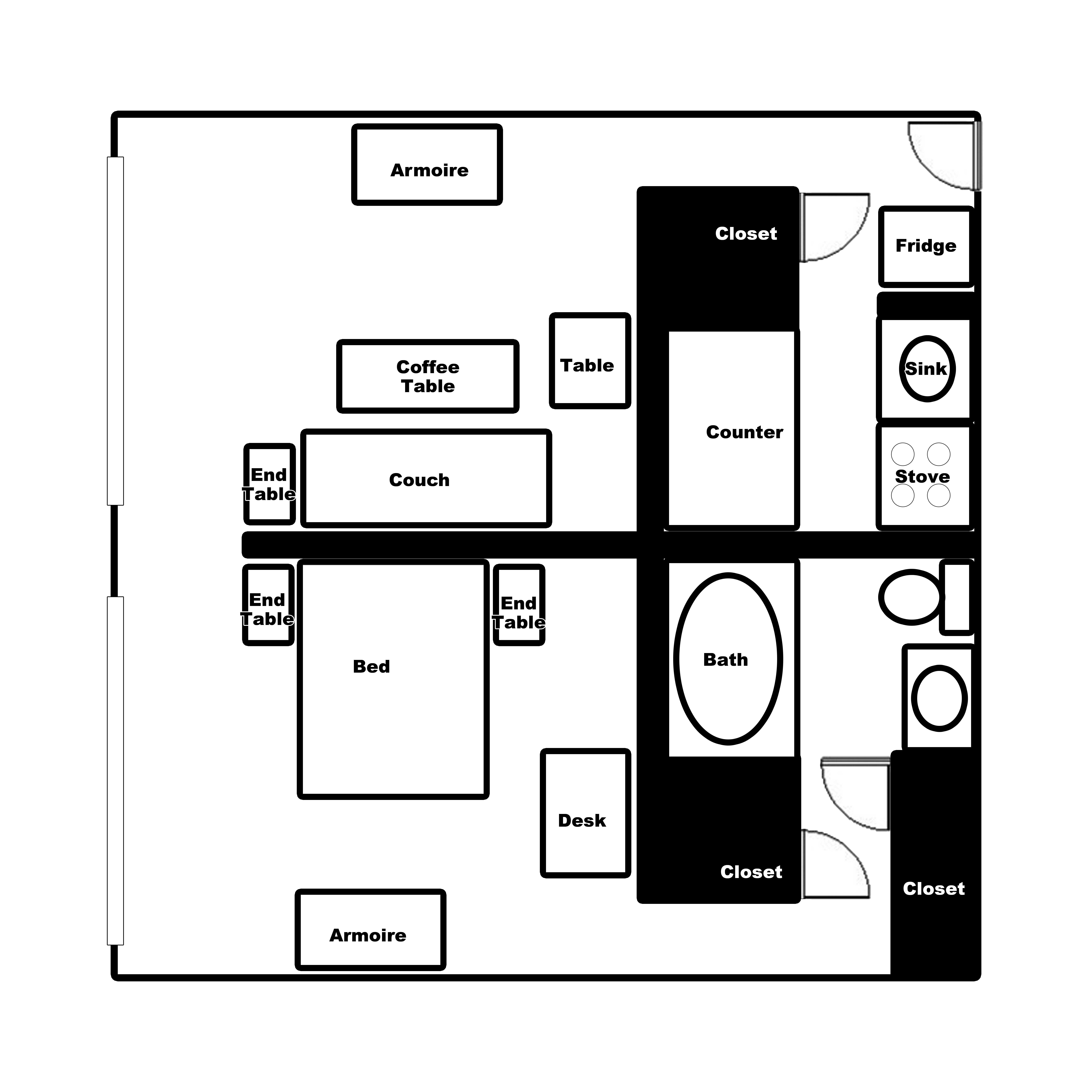 1 Bedroom Apartment Ramada Downtown Topeka
